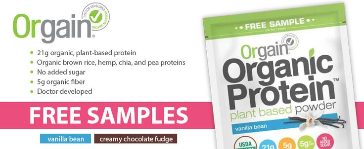 Orgain Organic Protein is giving away a FREE SAMPLE for OH members to try. Fill out the quick and easy form to receive your sample!