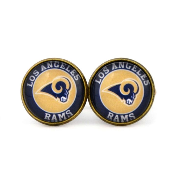 Los Angeles Rams Logo cufflinks. American football team. Football  fan gift.NFC. NFL. Personalised Silver Men's jewelry accessories gift. by Mysstic on Etsy