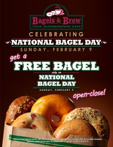 Bagels and Brew is delish  and there are 3 locations in South Orange County! Get a FREE bagel & enter my giveaway in my article here and read about this fab place!!