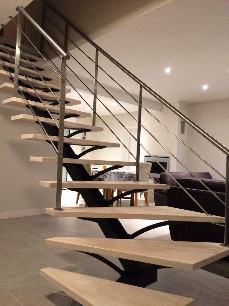 1000 id es propos de escalier m tallique sur pinterest for Escalier metallique interieur