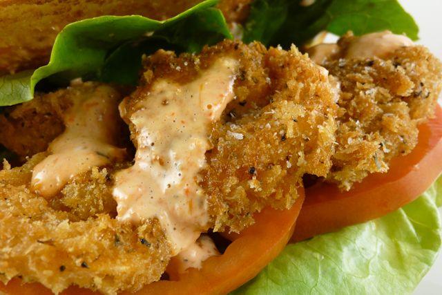 Fried Shrimp Po' Boy Sandwich