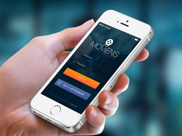 iOS7 Login Screen - Moviens on Behance