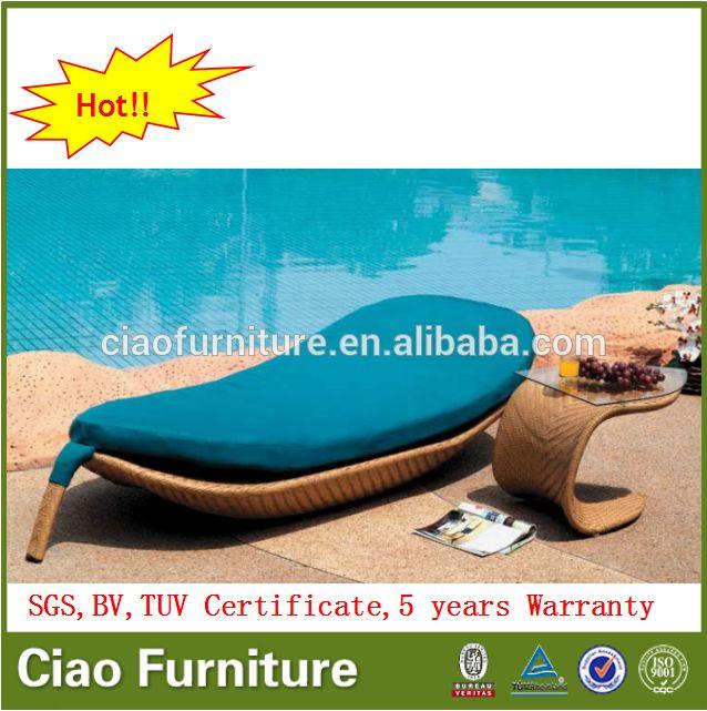 Ocio muebles de patio de sol forma de la hoja de cama salón al aire ...
