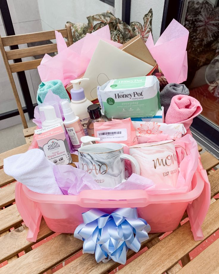 Diy postpartum gift basket for the new mama with images