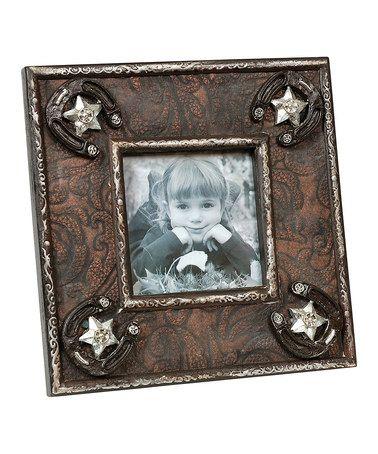 Love this Brown Western Picture Frame on #zulily! #zulilyfinds