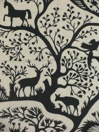 it's a fabric... but would make such a great cutout! Mahan Midnight, cotton interior dec fabric.