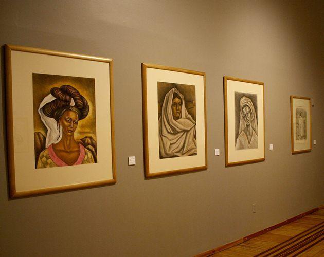 """""""El eterno femenino de Raúl Anguiano"""" se compone por 52 obras entre óleos, dibujos y grabados.  Perla Miranda / EL UNIVERSAL"""