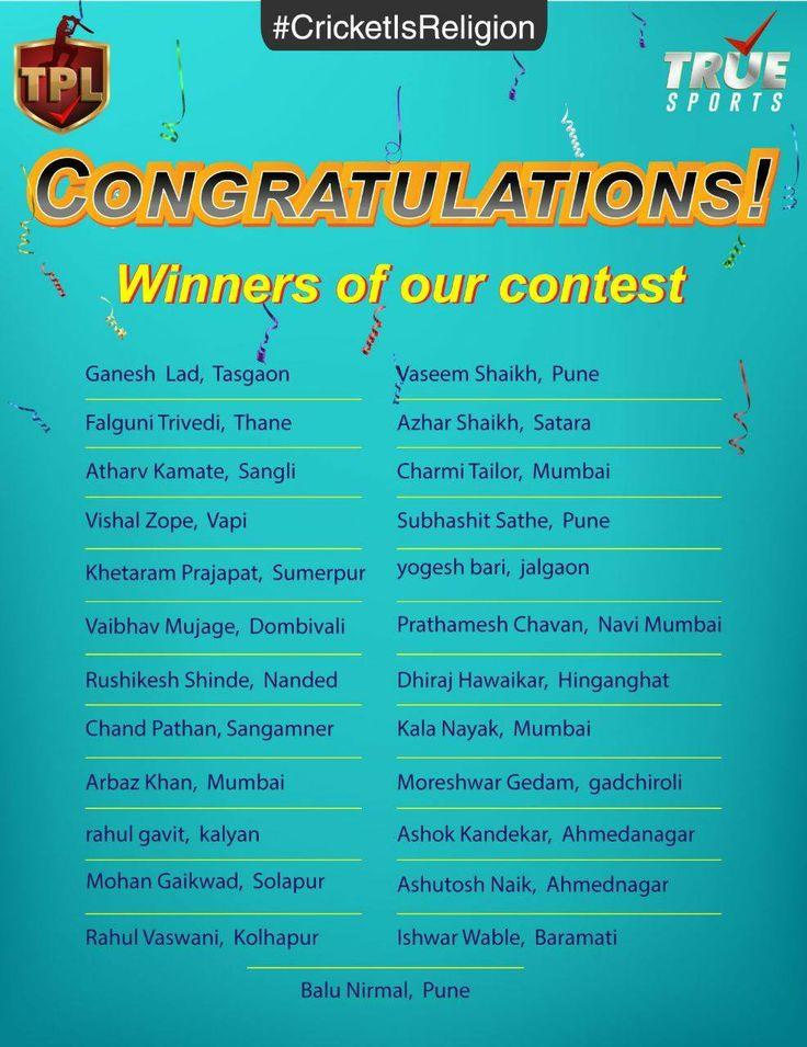 Mr. Zahir Rana congratulates all the winners of #CricketisReligion Contest.