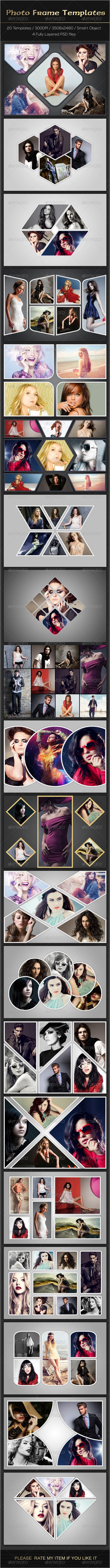 Photo Frame Templates PSD #design Download: http://graphicriver.net/item/photo-frame-templates/7636870?ref=ksioks