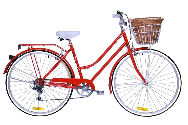 Modern vintage bicycle with basket