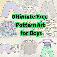 Tons of tree patterns for boys, the Ultimate free boy pattern list #sewboy #freepatternsforboys