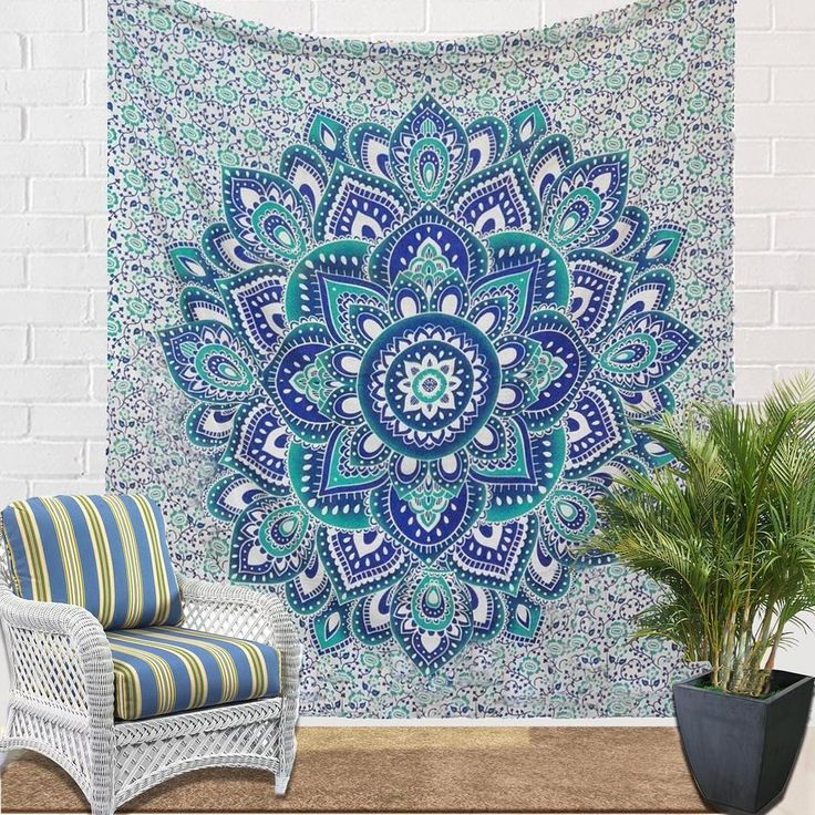 white floral mandala wall hanging cute hippie tapestries FLAT 15% OFF (Coupon Code : NEW15) Valid Till 19th Feb @JaipurHandloom