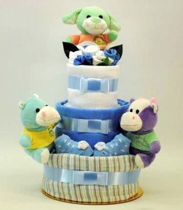 newborn-nursery-friends-boy-3-layer-nappy-cake.jpg (372×427)