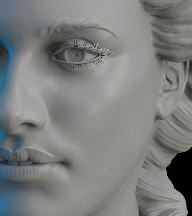 By Alexandrino Pereira da Silva in Female Face Sculpting with Steve Lord