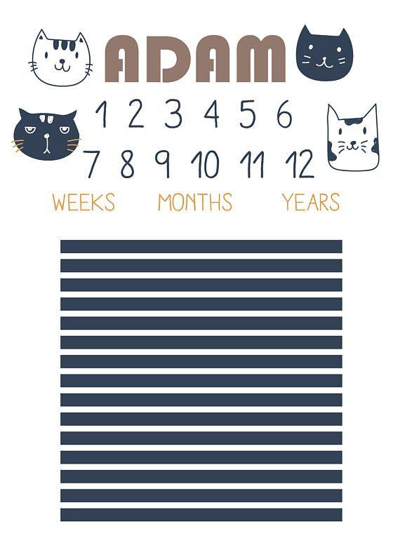 Milestone Couverture de b/éb/é Photographie Prop Calendrier Toile de fond Photo Prop pour cadeau de naissance Milestone Cartes et mensuel Toise Toile de fond