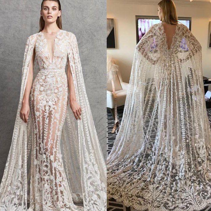 Платье С Кейпом Длинное Масс Маркет 2021