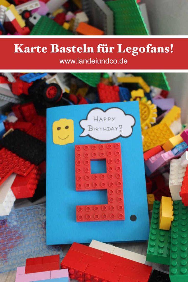 Gluckwunschkarte Fur Legofans Gutschein Basteln Kinder