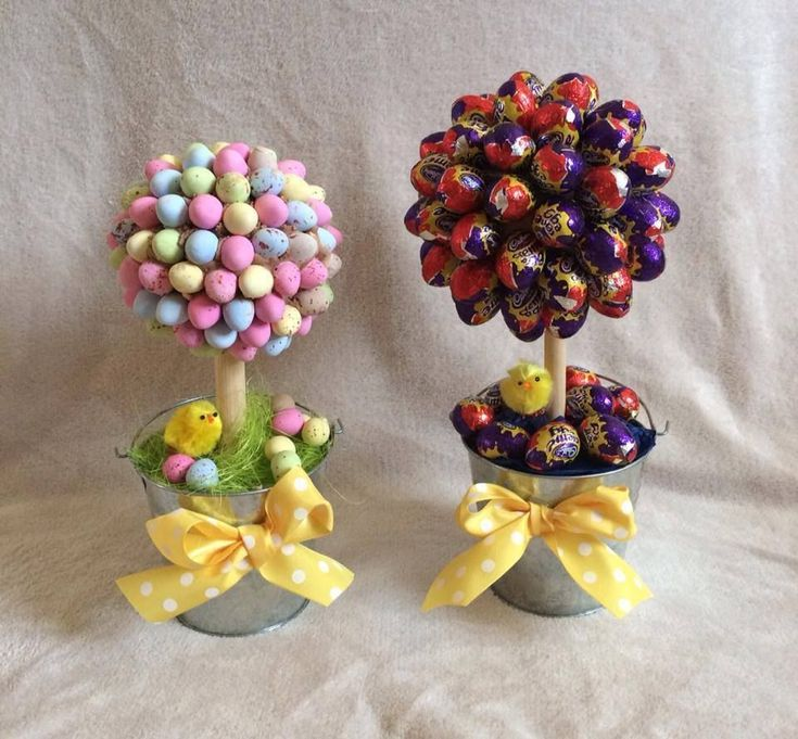 EASTER CHOCOLATE MINI EGG / CADBURYS CREAM CREME EGG MINI SWEET CANDY TREE GIFT...great easter egg treat tree for gift or table centre to eat at easter dinner