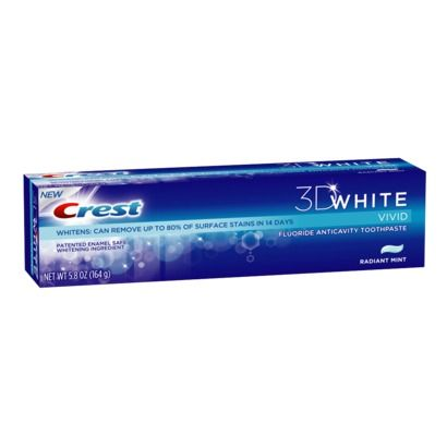 Crest Vivid White 3-D Refreshing Mint Toothpaste - 5.8 oz.