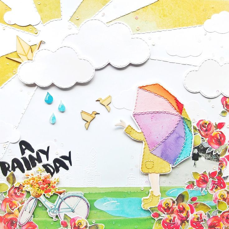 A Rainy Day | Altenew Scrapbook Collection Blog Hop   Giveaway