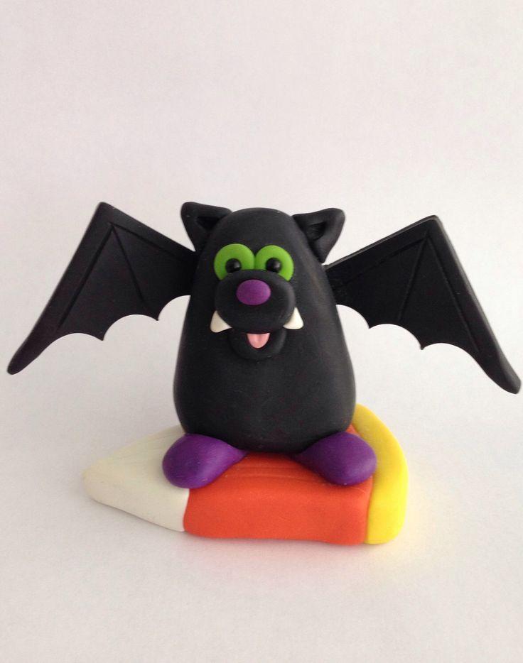 A cute little bat now in my Etsy shop https://www.etsy.com/listing/467569306/bat-halloween-figurine-bat-halloween