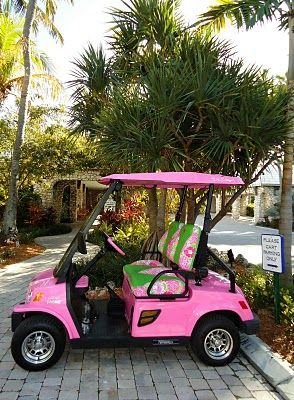 Who says golf carts have to be green or beige? Now this is one way to Inspire my golf game...