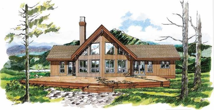 A frame house plan with 1659 square feet and 3 bedrooms for Lodge plans with 8 bedrooms