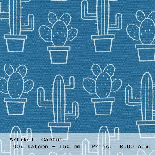 Lekker retro #cactus gordijnen | Boer & Bontig