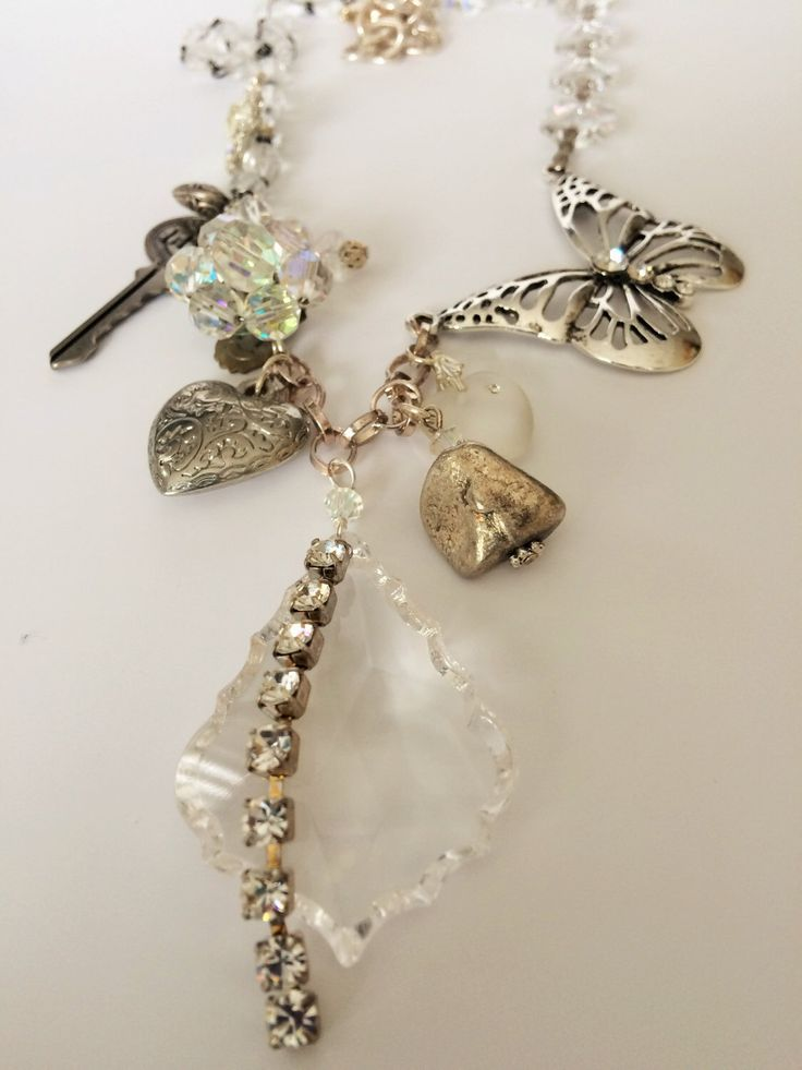 A personal favorite from my Etsy shop https://www.etsy.com/ca/listing/66276631/butterfly-amongst-crystal-chunky-charm