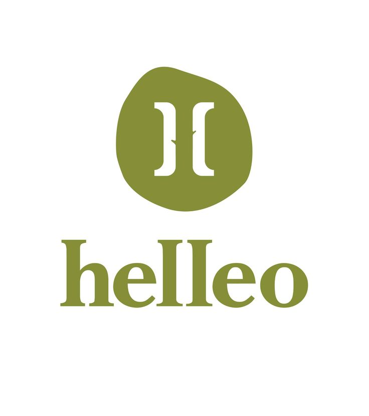 "helleo company logo inspired by Greece, the olive oil, the olive tree and the word ""hello"""