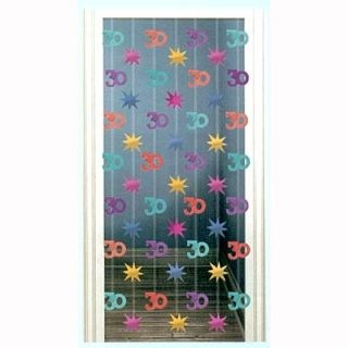 A249052 - Door Decoration 30th Birthday Door Decoration 30th Birthday (195cm Drop) Please note: approx. 14 day delivery