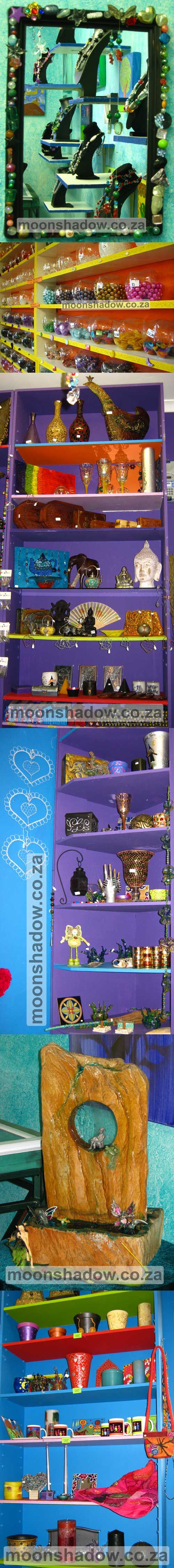 #Moonshadow Gift Shop offers unique gifts, hand-crafted and imported.  #Swellendam, #Overberg