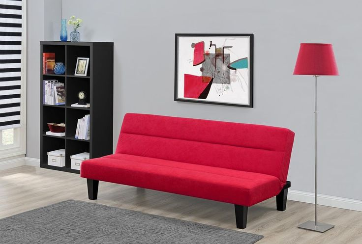 Sofa Bed Sleeper Futon Couch Convertible Modern Living Room Furniture Red New