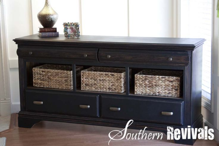 Southern Revivals- this dresser is brilliant. Just take out a row of drawers, paint, add baskets, and hardware. Instant update!