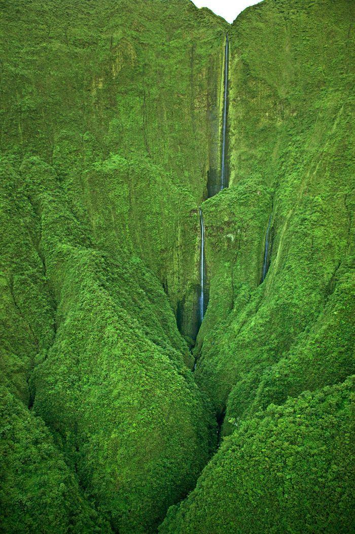 Honokohau Falls, Maui, Hawaii.