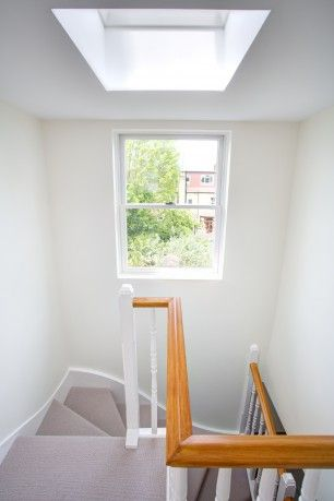 Don't neglect your stairwell. This London loft extension by @Jessica Landmark Group (UK) LTD leaves no space neglected.