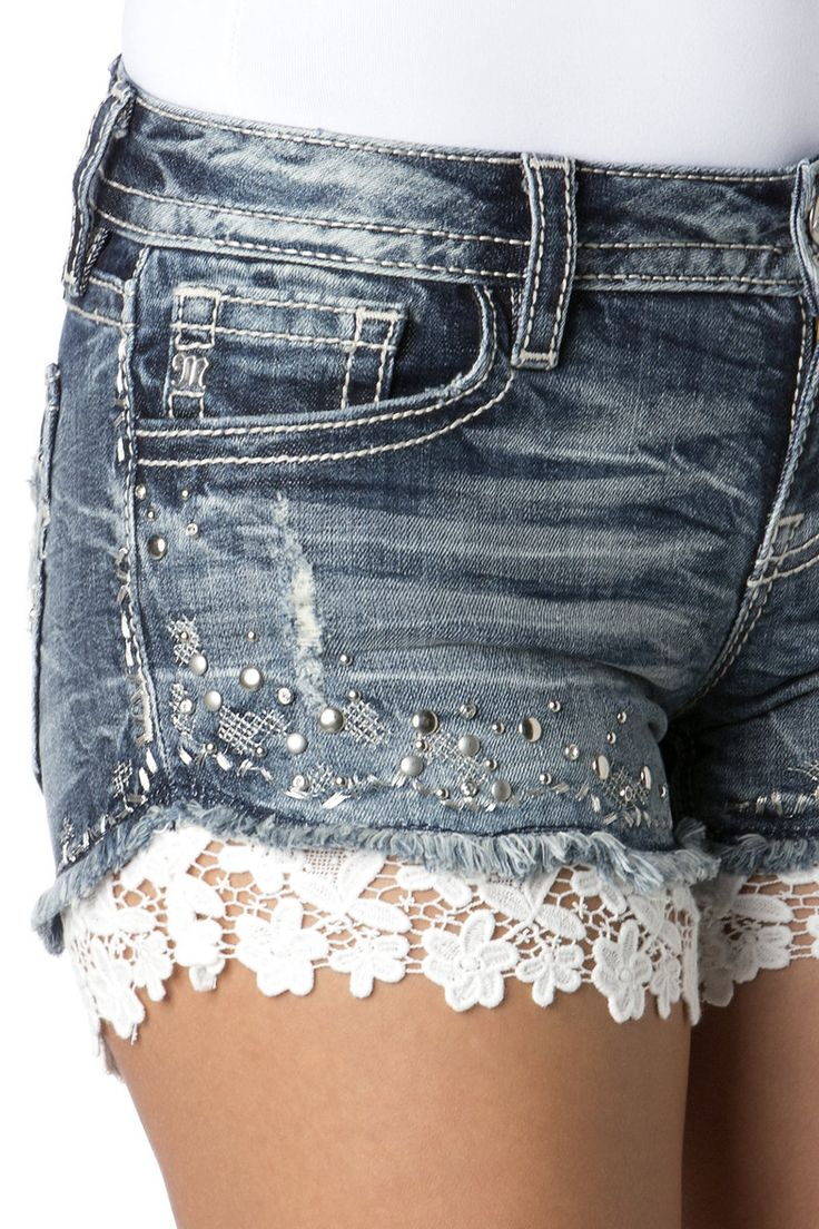 Как украсить джинсовые шорты своими руками фото