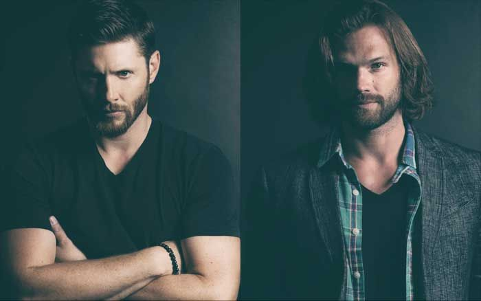 Jensen and Jared with beards