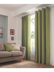 George Home Green Eyelet Curtains £25
