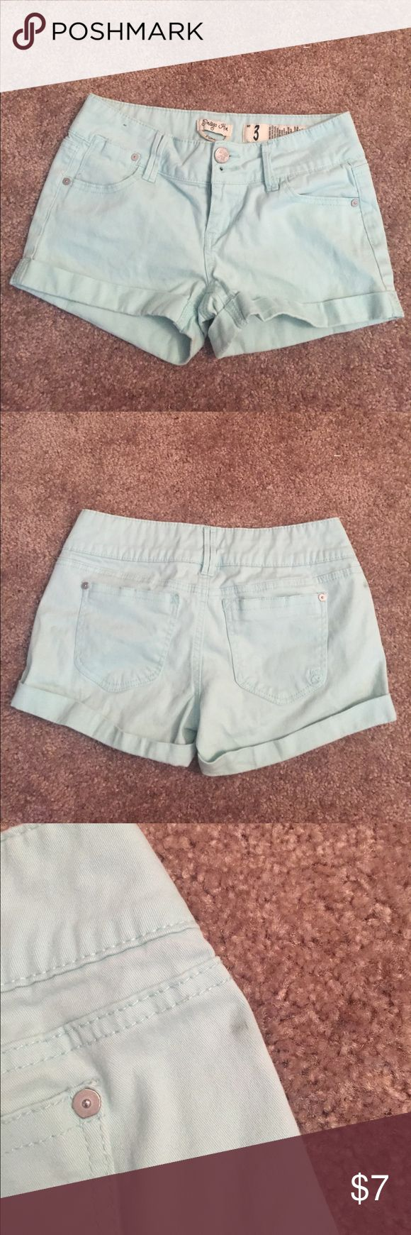 Aqua Shorts Super cute and comfy! Small imperfections shown in pictures (probably a wash will fix!) Shorts Cargos