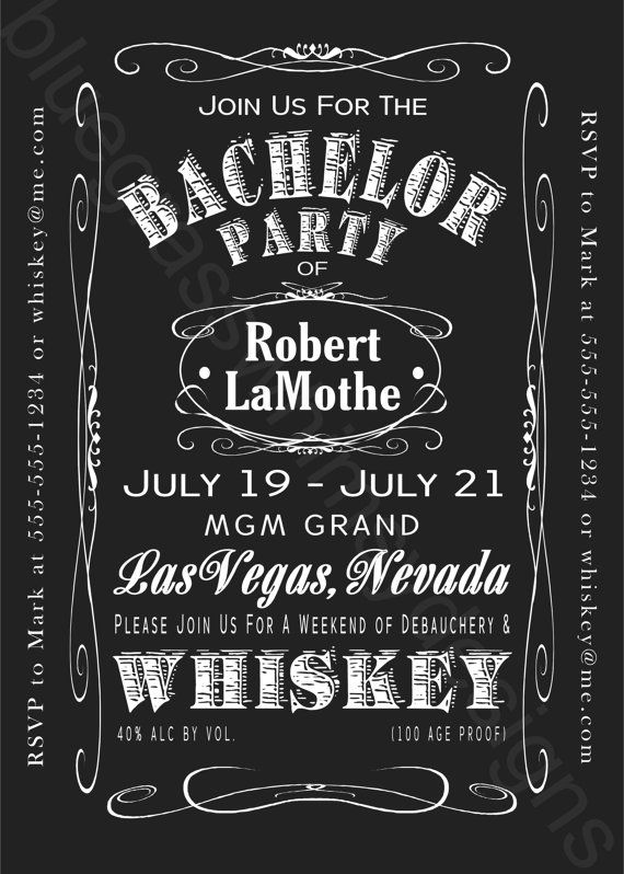 JACK DANIELS Bachelor Party Weekend 5x7 by BluegrassWhimsy ...