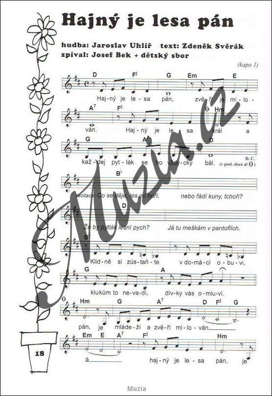 Výsledek obrázku pro písně s notami