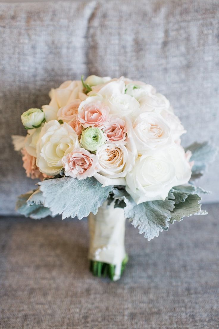 Romantic Jupiter Wedding at Wyndham Grand Jupiter at Harbourside Place, FL  Timeless blush pink and white bouquet!   Photographer:  Thompson Photography Group