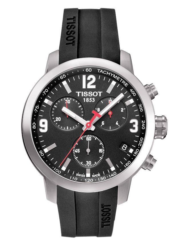 Ανδρικά Ρολόγια : TISSOT SPORT PRC200 Chronograph Black Rubber Strap T0554171705700