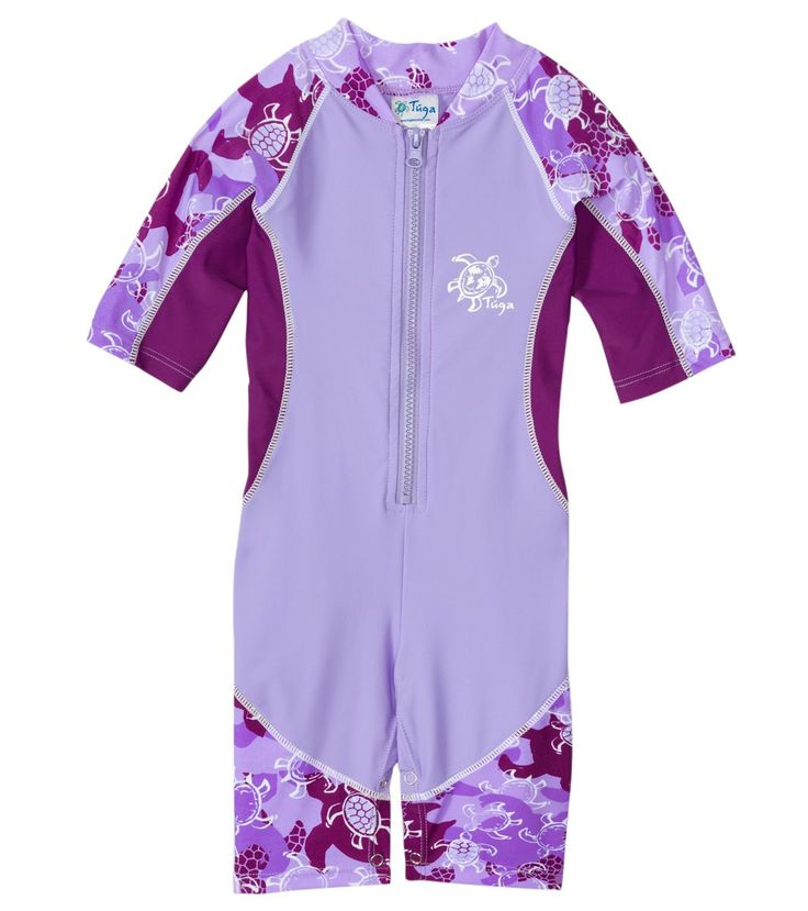 Tuga Girls' Low Tide S/S Sunsuit One Piece (3mos-7yrs) at SwimOutlet.com