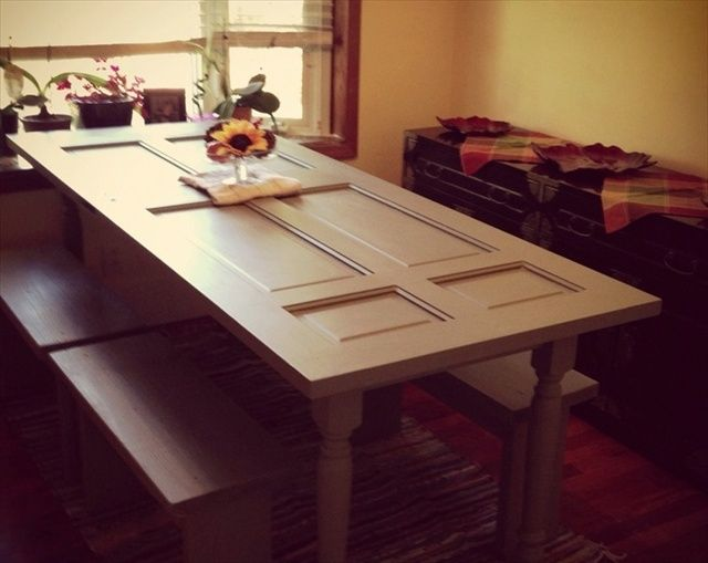 Make A Dining Room Table Out Of A Door