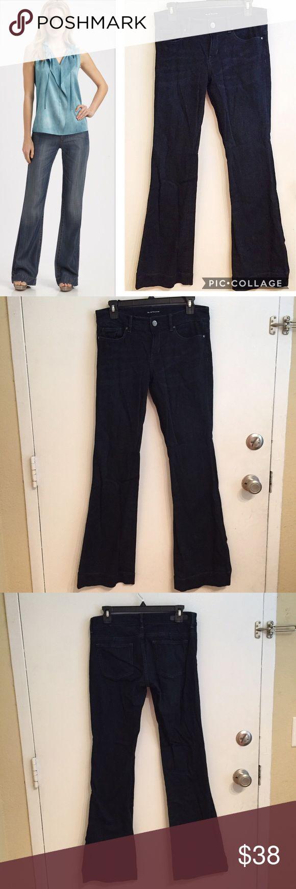 "Elie Tahari Adena Flare Leg Jeans Elie Tahari ""adena"" Flare leg jeans. Size 6. Dark wash. Measures 15.5"" flat at the waist, 33"" inseam, and 10.5"" leg opening. They do have stretch. #elietahari #adena #flare #jeans #denim #darkwash #basic #staple #punkydoodle  No modeling Smoke free home I do discount bundles Elie Tahari Jeans Flare & Wide Leg"
