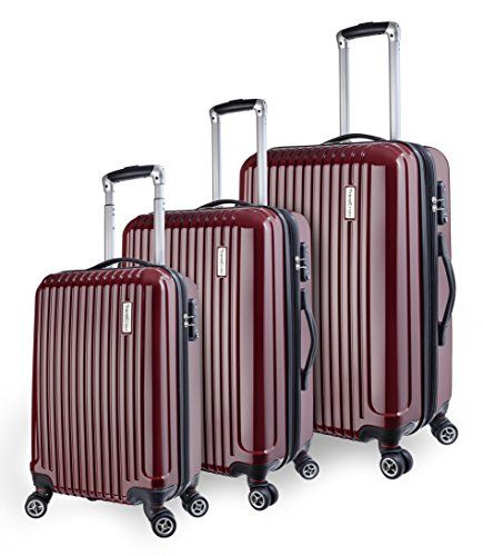 TravelCross Luggage 3 Piece (PC+ABS) Double Wheels Set w/ TSA lock and Global Tracking System - http://travelonline360.com/travelcross-luggage-3-piece-pcabs-double-wheels-set-w-tsa-lock-and-global-tracking-system/