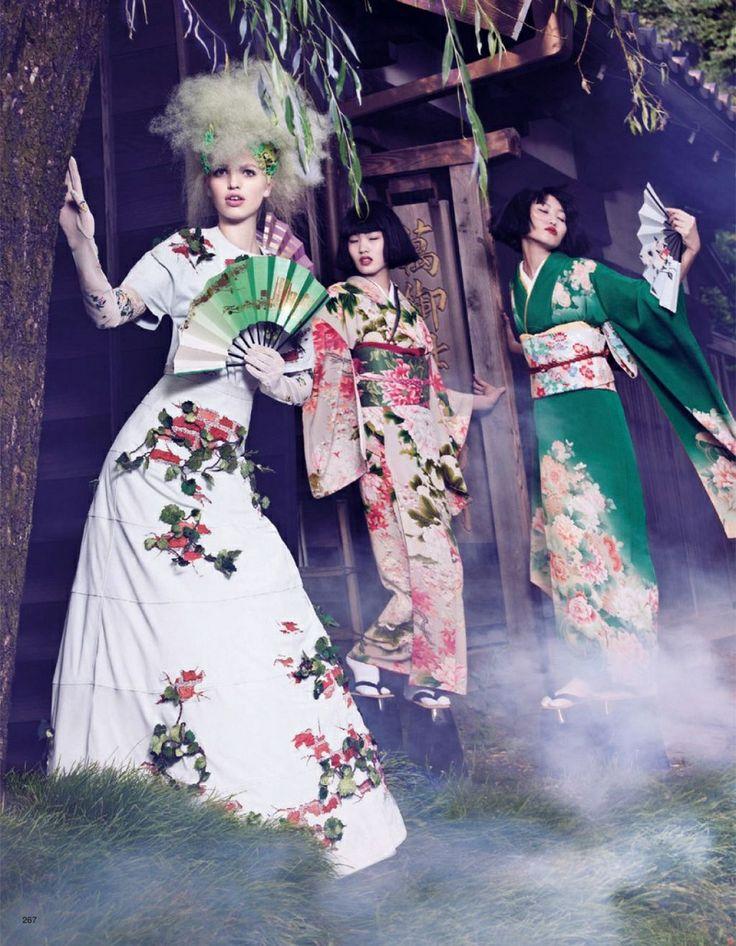 ASIAN MODELS BLOG: EDITORIAL: Chiharu Okunugi in Vogue Nippon, November 2012