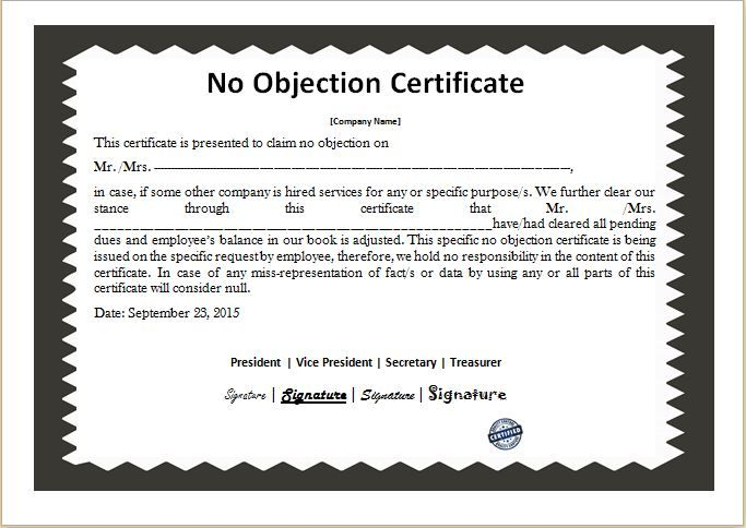 1647 best Daily Microsoft Templates images on Pinterest - no objection certificate for passport